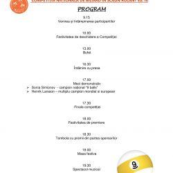 Invitatie la Competitia Nationala de Biliard in Scaun Rulant