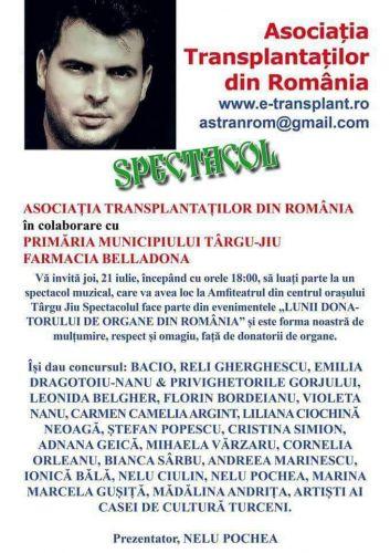 IULIE, LUNA DONATORILOR DE ORGANE DIN ROMANIA LA TARGU JIU