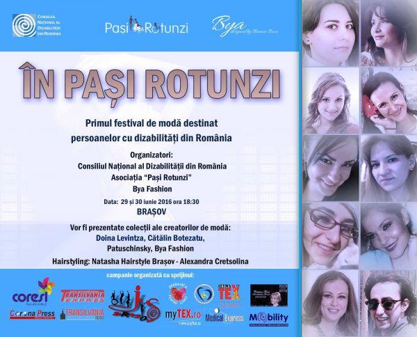 IN PASI ROTUNZI, PRIMUL FESTIVAL DE MODA DIN ROMANIA DEDICAT PERSOANELOR CU DIZABILITATI