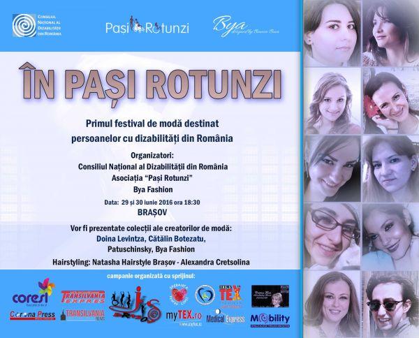 IN PASI ROTUNZI, PRIMUL FESTIVAL DE MODA DIN ROMANIA DESTINAT PERSOANELOR CU DIZABILITATI