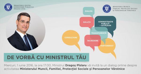 Ministrul Dragos Pislaru vine azi in direct la De vorba cu Ministrul tau
