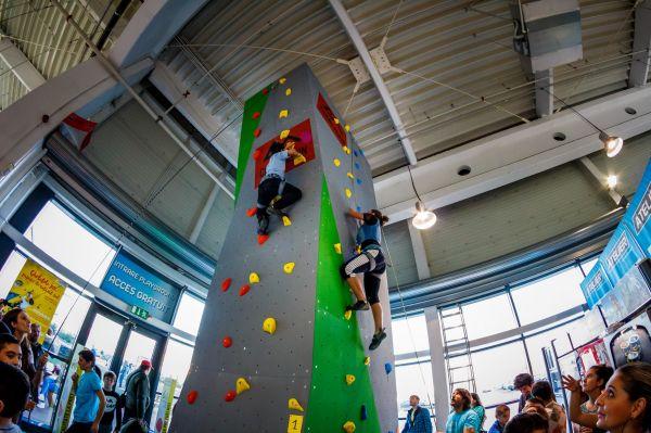 CARAVANA CLIMB AGAIN, escalada sportiva pentru copii cu dizabilitati