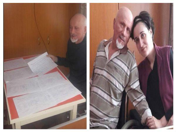 Sotii Holtei, ambii imobilizati in scaun rulant, au implicat aproape toata comunitatea in sustinerea proiectului de initativa...
