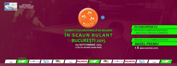 Competitia nationala de biliard in scaun rulant