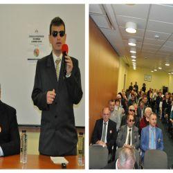 Moment festiv al Asociatiei Nevazatorilor din Romania