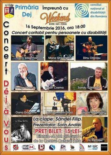 Concert caritabil destinat persoanelor cu dizabilitati, la Dej
