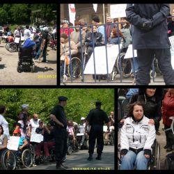 Persoanele cu dizabilitati ies in strada, nu vor genocid in Romania