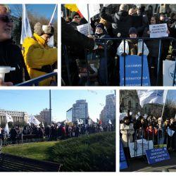 Persoanele cu dizabilitati au protestat la Bucuresti, Targu Jiu si Iasi